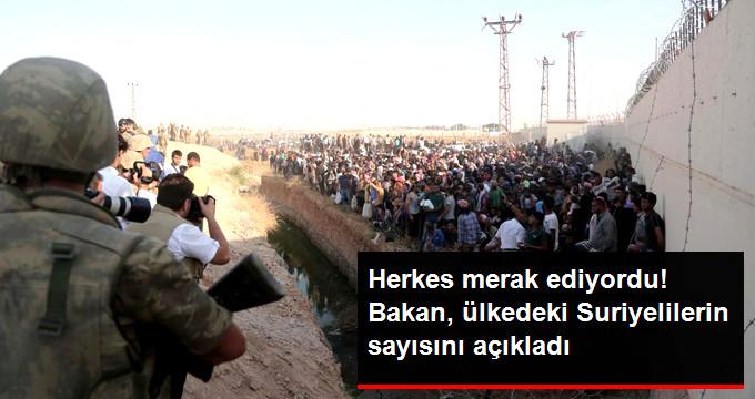 Herkes merek ediyordu! Bakan ülkedeki Suriyelilerin sayısını açıkladı
