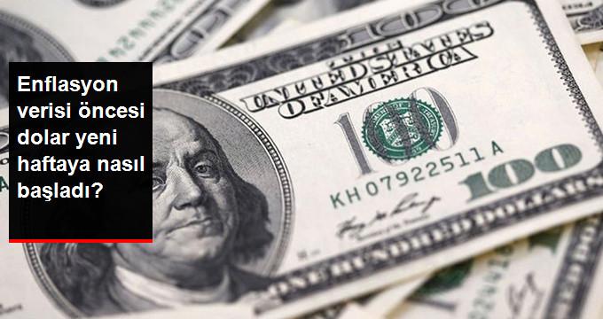 Enflasyon verisi öncesi dolar yeni haftaya nasıl başladı?
