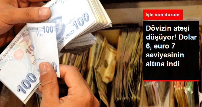 Dövizin ateşi düşüyor!Dolar 6 Euro 7 seviyesinin altına indi.