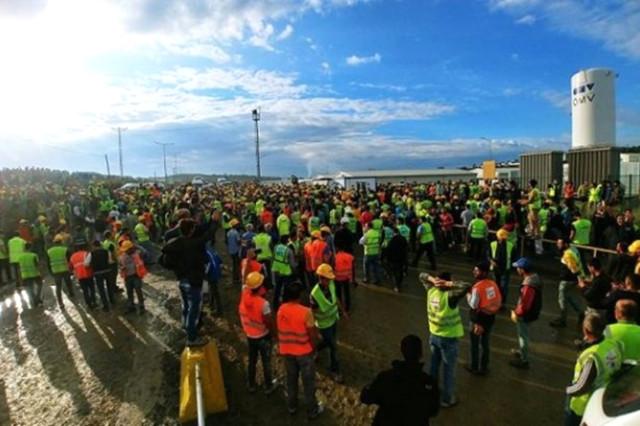 3. Havalimanı İnşaatinda Eyleme Katılan 24 İşçi Tutuklandı