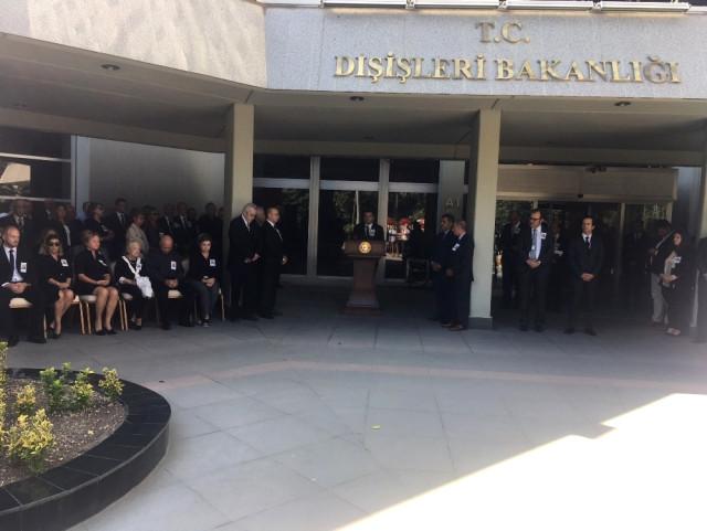 Hayatını Kaybeden Emekli Büyükelçi Kaya Toperi İçin Dışişleri Bakanlığında Tören Düzenlendi