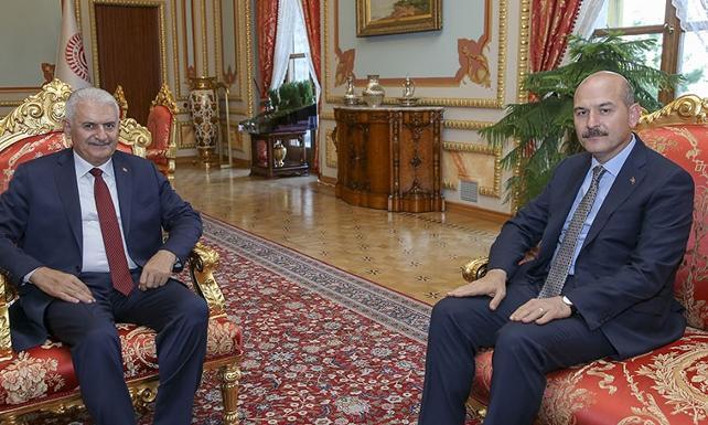 TBMM Başkanı Yıldırım, İçişleri Bakanı Soylu'yu kabul etti