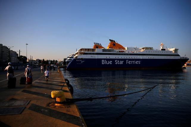 Yunanistan'da denizciler greve gitti