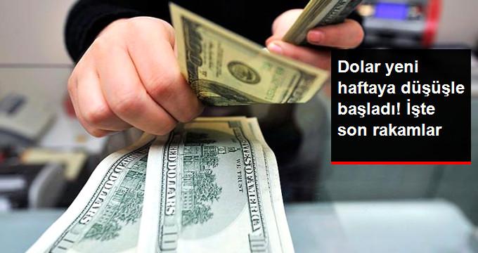 Dolar yeni haftaya düşüşle başladı!işte son rakamlar