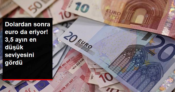Dolardan sonra Euro da eriyor! 3,5 ayın en düşük seviyesini gördü
