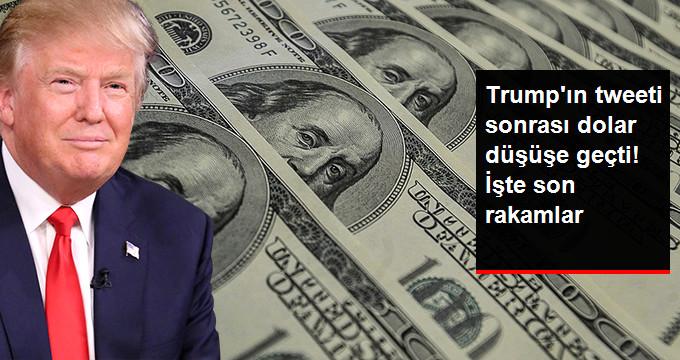 Trump'ın tweeti sonrası dolar düşüşe geçti! İşte son rakamlar