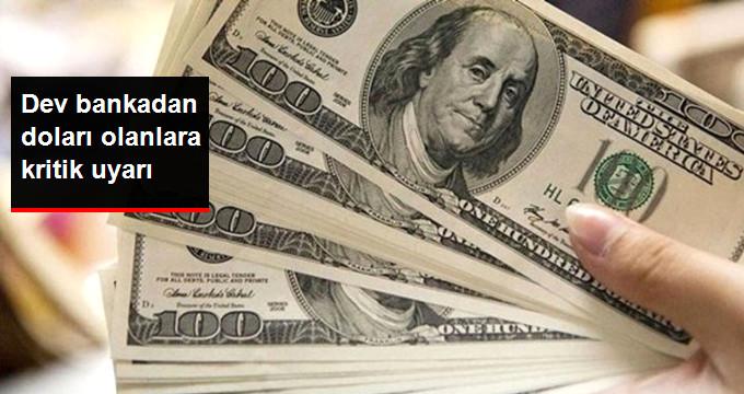 Dev Bankadan Doları Olanlara Kritik Uyarı!