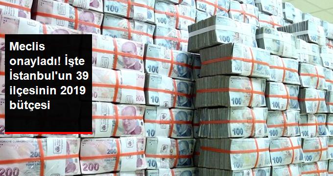 Meclis onayladı! İşte İstanbul'un 39 ilçesinin 2019 bütçesi