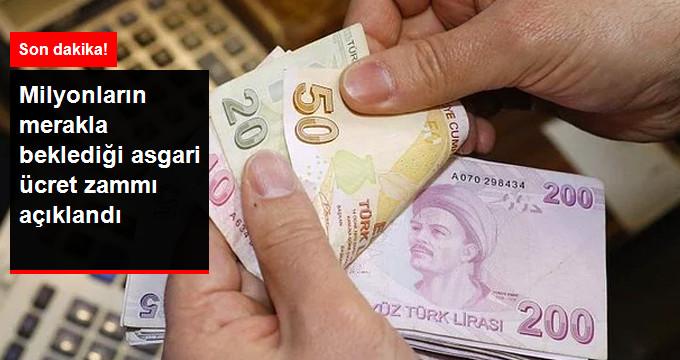 Milyonların merakla beklediği asgari ücret zammı açıklandı